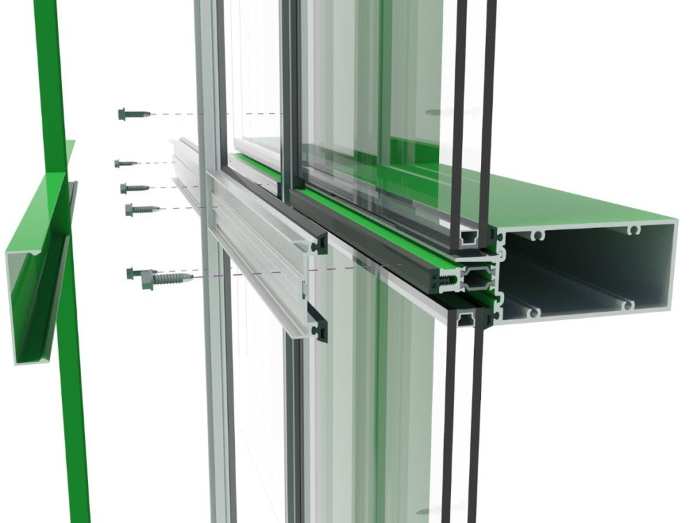 Thermal efficiency in glazed curtain wall systems page