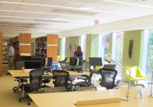 The library was reborn into collaborative learning spaces that maintain high levels of indoor environmental quality for students and staff.