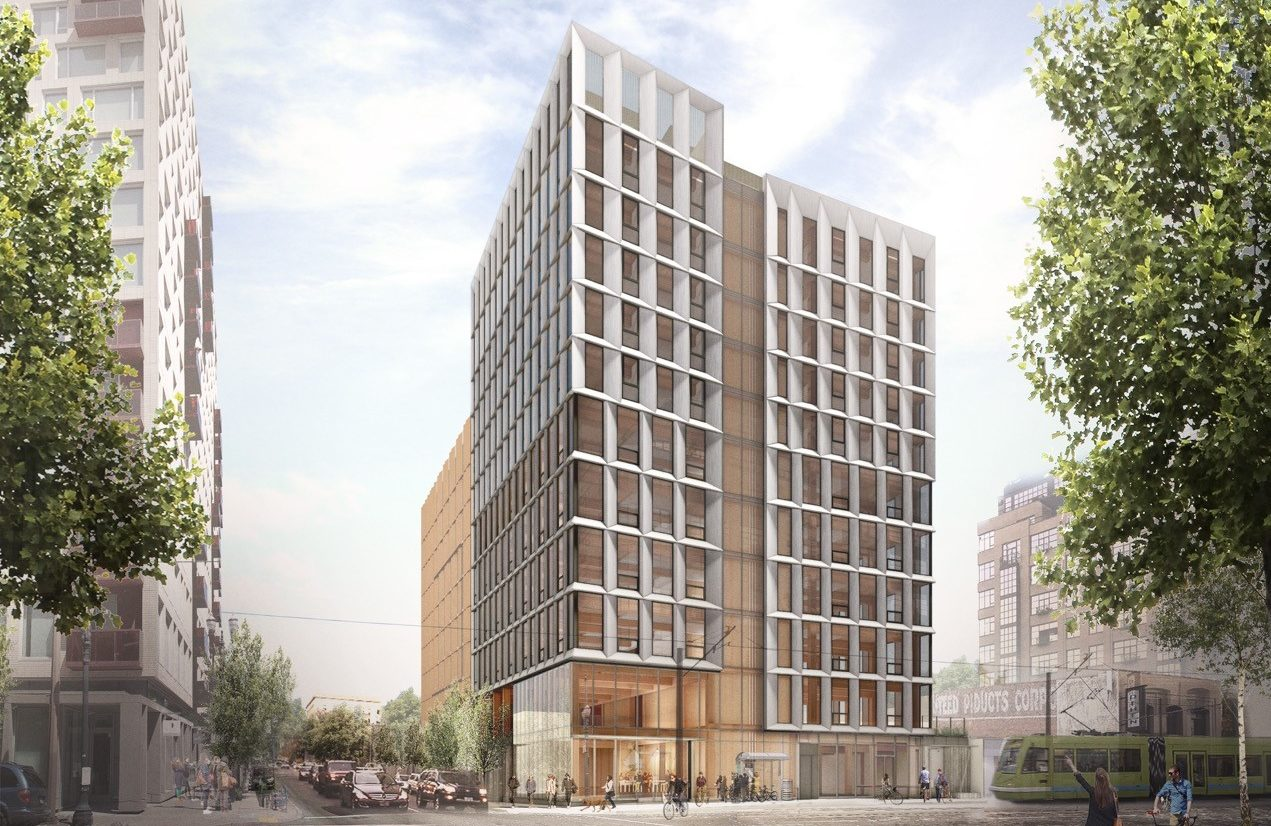 Framework—a 12-story wood building to be constructed in Portland's Pearl District—will be the first high-rise with exposed wood in North America. Images courtesy The Framework Project LLC
