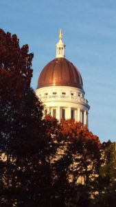 In 2015, the Maine State House Dome restoration project (Consigli Construction Co., The Heritage Co., and Leo A Daly) won a North American Copper in Architecture (NACIA) award in the restoration category for noteworthy work on one of the building's most iconic features. Photo © Anne M. Dumont