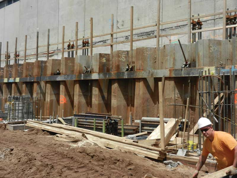Waterproofing Sheet Pile : Constructing basements to receive waterproofing page