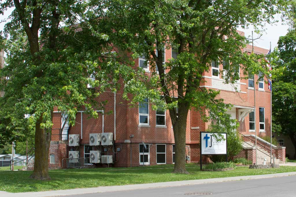 The old boiler system at St. Joseph School caused inconsistent temperatures throughout the building and the window units were loud. Photos by Mitsubishi Electric