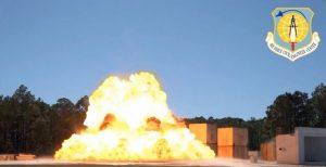 All structures tested remained intact after significant explosive loading. Photo by Air Force Civil Engineering Center, Tyndall Air Force Base