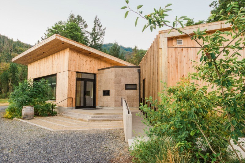 Cowhorn Vineyard & Garden was designed by Portland-based design-build firm Green Hammer. Photos courtesy Cowhorn Vineyard & Garden/PR Newswire
