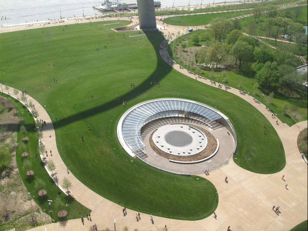 The plans for the Museum at the Gateway Arch are part of a renewal of the National Park's landscape. Photo by Earthcam/Gateway Arch Park Foundation