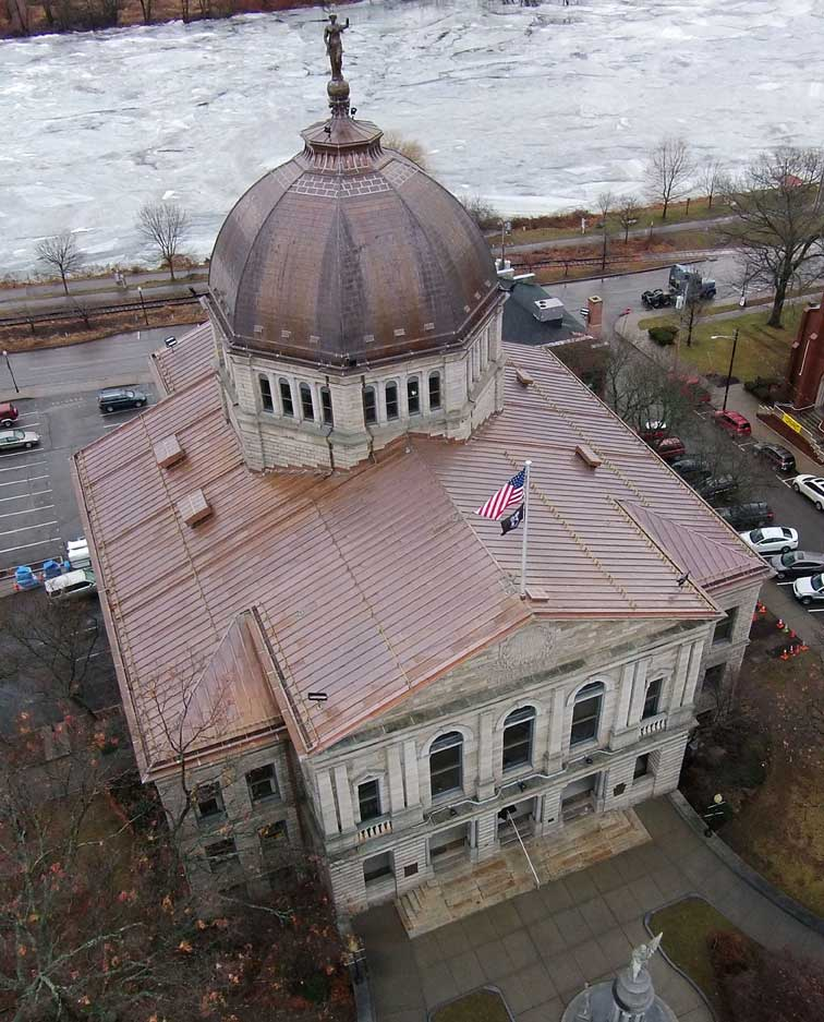 Bradford County Courthouse in Pennsylvania was praised for its recent roof replacement. Photo courtesy Charles F. Evans Company, Inc.