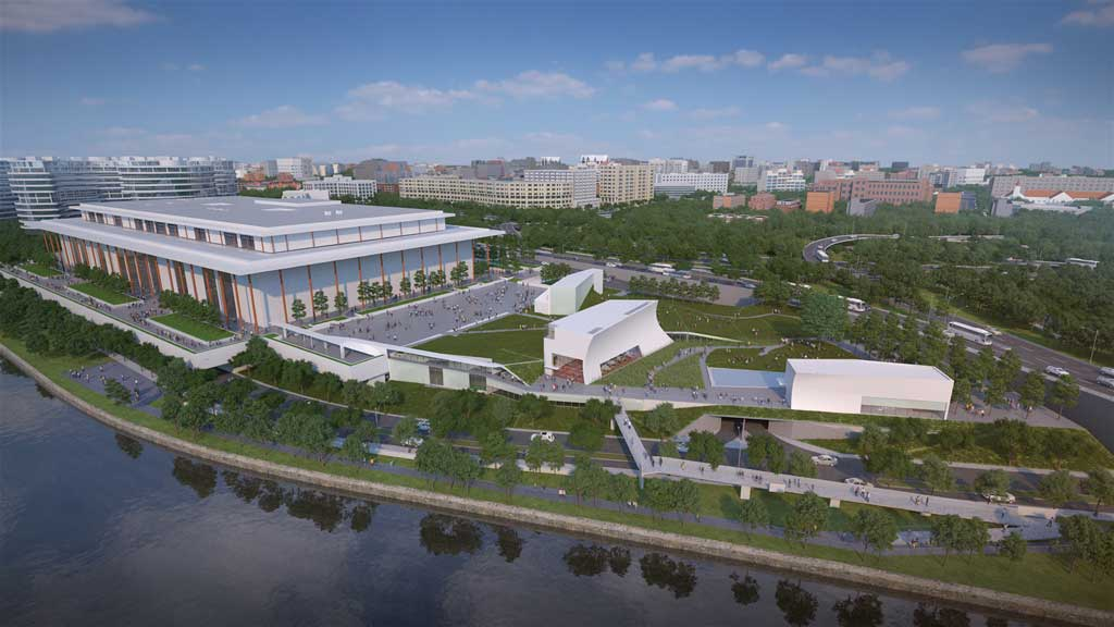 The REACH expansion at the Kennedy Center for the Performing Arts is expected to add 6689 m2 of space to the facility's interior. Images courtesy Steven Holl Architects/Kennedy Center