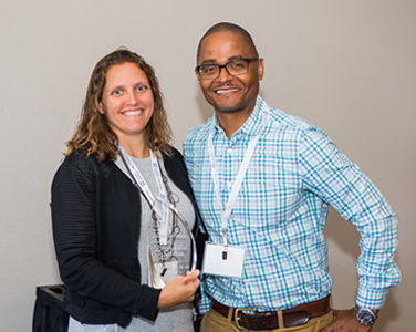 Jennifer Zabik, P.E., and Georgi Hall, Cold-formed Steel Engineers Institute (CFSEI) executive committee chair (2017-2018). Zabik is the recipient of the 2018 CFSEI John P. Matsen Award for Distinguished Service. Photo courtesy CFSEI