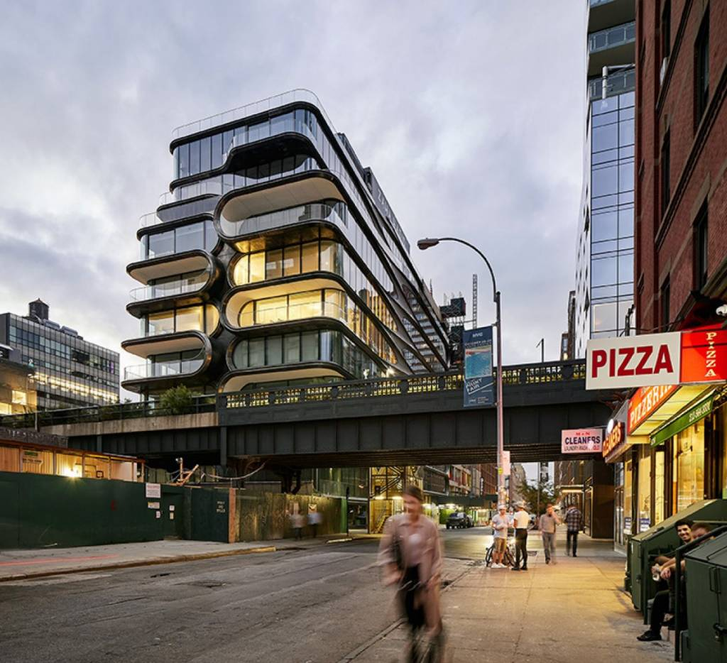 Designed by Zaha Hadid Architects, 520 West 28th in New York is among the shortlisted contenders for this year's World Architecture Festival Awards. Photo © Hufton+Crow