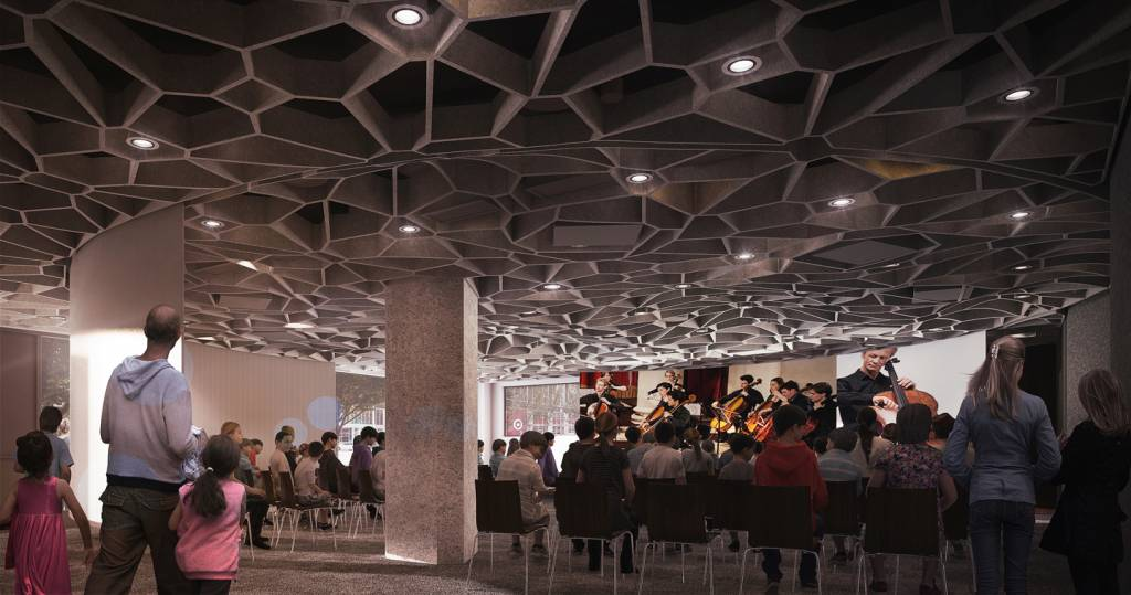 Octave 9 will incorporate audio and visual technology to establish an immersive experience. Images courtesy LMN Architects