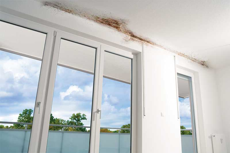 Condensation forming on the underside of an uninsulated balcony penetration can lead to mold growth, respiratory problems, and litigation in modern, airtight buildings having interior humidity levels exceeding 35 percent. Photo courtesy Schöck North America