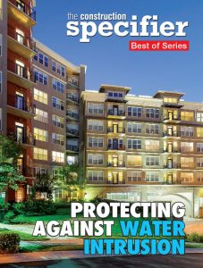 Condo building on the cover of The Construction Specifier e-book