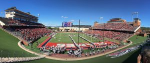 The renovation of the football stadium in Liberty University, Lynchburg, Virginia, was completed within a year. Photo courtesy Woolpert