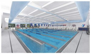 Rendering of new $3.1-million-aquatic center will be constructed at the Northern Neck Family YMCA, Virginia. Photo courtesy Guernsey Tingle Architects