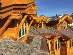Originally roofed with concrete tiles, this Utah lodge switched to asphalt shingles to stem heat loss, disrupt ice dam formation, and protect against a harsh winter environment, earning the 2015 Quality Asphalt Roofing Case-study (QARC) Silver Award. Photo courtesy IronClad Exteriors