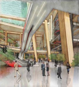 Mass timber buildings usually have exposed wood ceilings, beams, and columns, allowing occupants to be much more connected with natural elements. This can have a positive impact on their overall well-being.