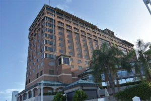 Prior to its exterior restoration, the Westin Tampa Waterfront in Tampa Bay, Florida, had a dull and faded look.