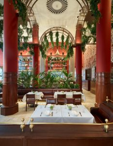 The Nahita restaurant in Boston merges global cuisine with historical architecture. Photo © Jared Kuzia, courtesy Dyer Brown