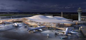 Five designs have been unveiled for the future O'Hare Global Terminal. Photo courtesy Fentress Architects