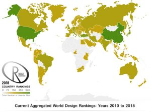 The United States took first place among 100 represented countries in the World Design Rankings (WDR) in 2018 with 48 Platinum Design Awards won globally. Photo courtesy World Design Rankings