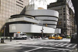 Restored between 2005 and 2008, the exterior of the Guggenheim Museum in New York City represented a challenge to restoration experts with its curved architectural concrete exterior.
