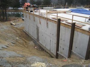 This image shows initial leaks in concrete during the construction of a new facility at the Newburyport Wastewater Treatment Facility (NWTF) in Massachusetts. Images courtesy Kryton International