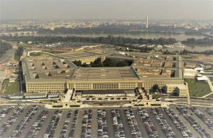 Constructed in the 1940s with reinforced concrete, the Pentagon is the world's largest office building, spanning 11.6 ha (28.7 acres), with a central courtyard just over 2 ha (5 acres).