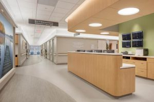 Ergonomic flooring has helped UW Health's University Hospital in Madison, Wisconsin, reduce noise and improve patient and staff experience in its neuroscience intensive care unit. Photo courtesy Ecore