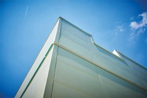 Fiber cement panels can also incorporate modern building design preferences with sleek, smooth, and/or reflective finishes.