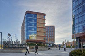 The University of Massachusetts Boston facility earns Leadership in Energy and Environmental Design (LEED) Gold certification. Photo courtesy Capstone Development Partners