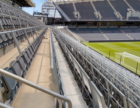 California Stadium Gets Safe Standing System With Integrated
