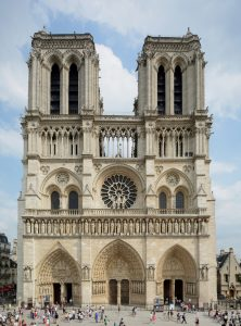 The iconic Notre Dame Cathedral, Paris, France, will be rebuilt exactly as it was before a devastating fire destroyed much of the structure last year. Photo courtesy Wikimedia Commons