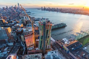 Designed by Bjarke Ingels Group (BIG), the XI tops off in Manhattan's West Chelsea neighborhood, in New York. Photo courtesy DBOX