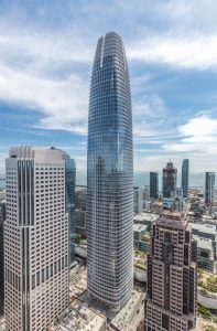 The Salesforce Tower in San Francisco, California, is the recipient of the Council on Tall Buildings and Urban Habitat's (CTBUH's) 2019 Best Tall Building award. Photo © Jason O'Rear courtesy CTBUH