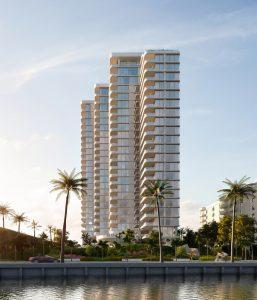 La Clara, a 25-story luxury building West Palm Beach, Florida, has broken ground. Photo courtesy Hariri Pontarini Architects