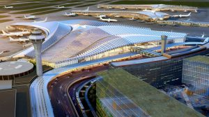 Studio ORD's design proposal selected for the new O'Hare Global Terminal in Chicago. Image courtesy City of Chicago