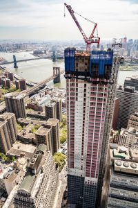 Sir David Adjaye-designed new luxury high-rise tower tops off in Lower Manhattan, New York. Photo © Chris Coe. Photo courtesy Optimist Consulting