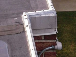 Figure 2: This outer perimeter sheet metal edge detail would indicate two discrete roof systems. However, this cannot be confirmed as the roof audit was cursory and non-invasive to the system assembly.