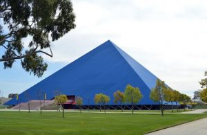 The Walter Pyramid in Long Beach, California, has won the Lifetime Achievement award from the American Galvanizers Association (AGA). Photo courtesy AGA