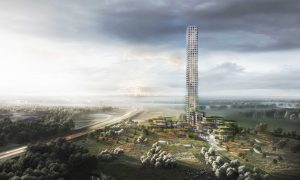 Fashion company Bestseller is building Western Europe's tallest skyscraper in Brande, Denmark. Image courtesy Bestseller A/S