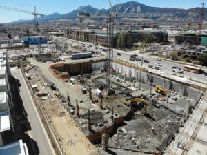 Temporary dewatering and groundwater treatment systems are in operation at Reve, a mixed-used development in Boulder, Colorado. Photos © Bairn Leonard, TerraFirma Earth Technologies