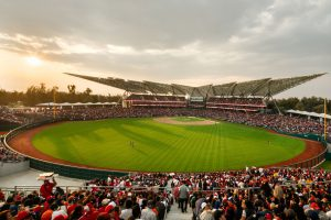 Mexico's largest baseball arena, the Diablos Rojos Stadium designed by Chicago-based FGP Atelier, fosters a sense of community and culture. Photo courtesy FGP Atelier