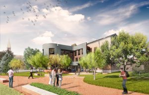 A new facility designed as a campus hub for the University of Denver (DU), in Colorado, has broken ground. Image courtesy Lake|Flato and SA+R