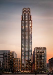 Designed by CetraRuddy, the Rose Hill tower in Manhattan, New York, will be characterized by an Art Deco-inspired façade. Photo courtesy CetraRuddy