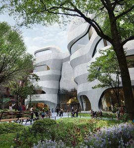 The American Museum of Natural History (AMNH) breaks ground on its new facility, the Richard Gilder Center for Science, Education, and Innovation in New York City. Image courtesy Studio Gang
