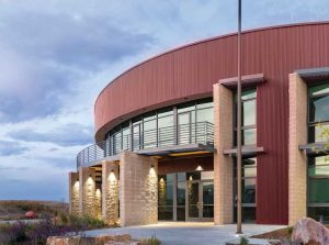 During the construction of the Boulder Wildland Fire Station in Boulder, Colorado, an air- and water-resistive barrier (AWB) system was selected for its high standard of durability. Photo courtesy Boulder Wildland Fire Station