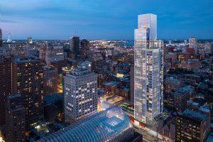 The Arthaus tower in Philadelphia, Pennsylvania, breaks ground in the city's art district. Image courtesy Kohn Pedersen Fox Associates