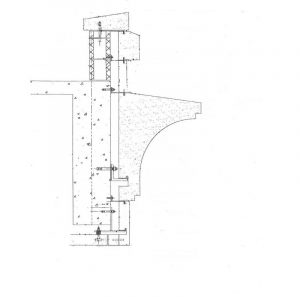 Figure 8: Schematic cornice wall section.