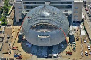 The Academy Museum of Motion Pictures in Los Angeles will feature a glass dome designed by Renzo Piano. Photo courtesy Academy Museum