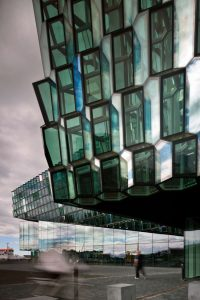 The Harpa Reykjavík Concert Hall and Conference Centre in Iceland was designed by Henning Larsen Architects. Photo © Nic Lehoux. Photo courtesy Henning Larsen Architects